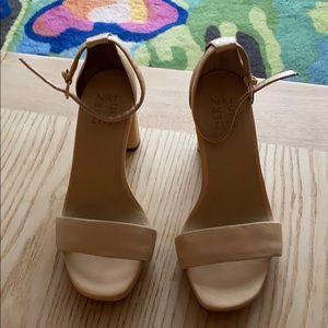 Naturalizer size 7 heels pink nude
